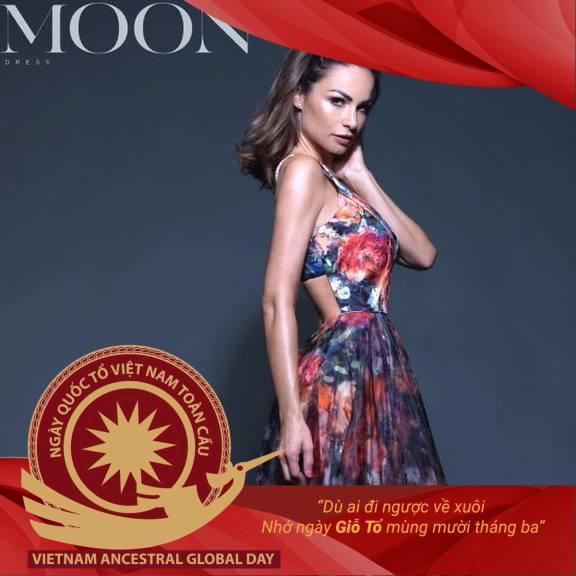 Miss Austria changes avatar photo to spread Vietnam's original value