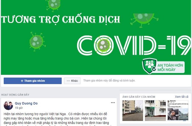 Overseas Vietnamese in Russia support each other to fight COVID-19