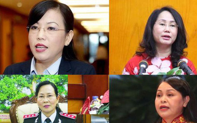 Portraits of eight female Secretaries of provincial Party Committees
