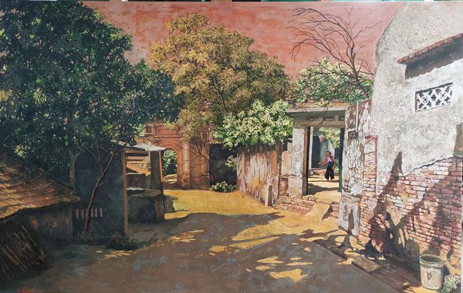 Art works on Hanoi's ancient village on display in Hanoi