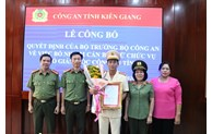 Colonel Tran Van Cung appointed as Deputy Director of Kien Giang provincial Police