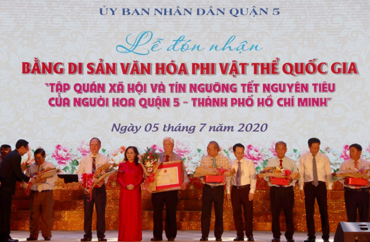 Hoa people's Nguyen Tieu Festival recognised as national intangible heritage