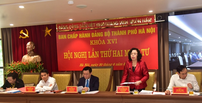99.96% of party committees at grassroots level in Hanoi organize congresses