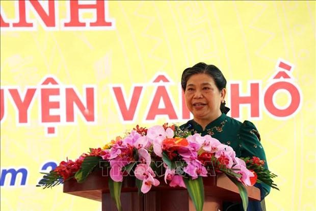 Standing NA Vice Chairwoman, APF delegation visit Son La