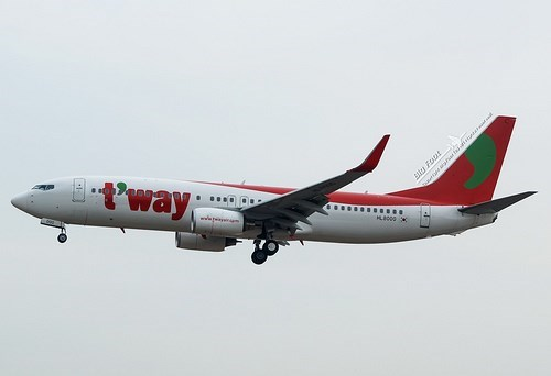 T'way Air to re-open HCM city - Incheon flight