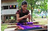 Brocade weaving by ethnic minority people