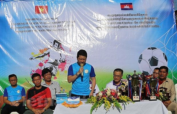 Friendly football tournament held in Cambodia to mark Vietnam's National Day