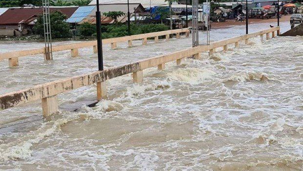 Cambodia localities suffer from flooding