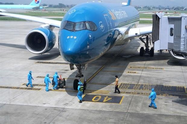 Vietnam's first commercial flight lands in Hanoi since border closure