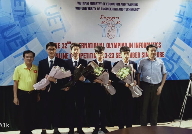 Four students won medals at International Informatics Olympiad 2020