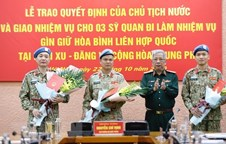 Three more Vietnamese officers to join UN peacekeeping missions
