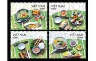 Stamp set on Vietnamese cuisine issued