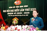 Nguyen Thi Thu Ha holds position of Secretary of Ninh Binh Provincial Party Committee