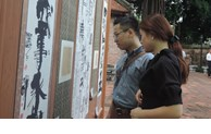Calligraphy works and paintings on display in Hanoi