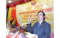 Tien Giang has re-elected Secretary of Party Committee