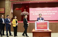 Hanoi Party Committee donates to help Central region's residents