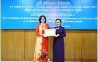 Cuban Ambassador presented peace and friendship insignia