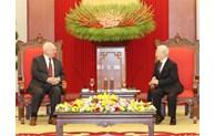 Top leader receives outgoing Russian Ambassador