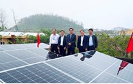 Solar power system handed over to island