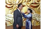 Chilean Ambassador presented peace and friendship insignia
