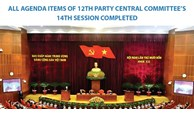 All agenda items of 12th Party Central Committee's 14th session completed