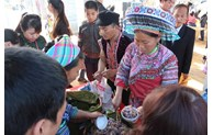 Ethnic upland market in celebration of New Year 2021