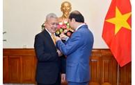 Vietnam Government awarded the Friendship Order to Indonesian Ambassador Ibnu Hadi