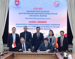 Ho Chi Minh City, Singaporean ministry cooperate in education