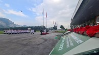 Flag raising ceremony for participants in 2021 Int'l Army Games in Vietnam