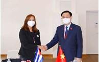 NA Chairman meets Cuba's legislator in Austria