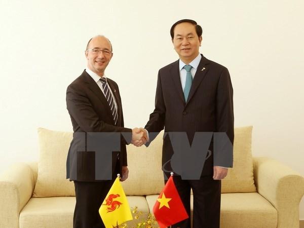 Francophonie: le président rencontre des responsables belge et égyptien