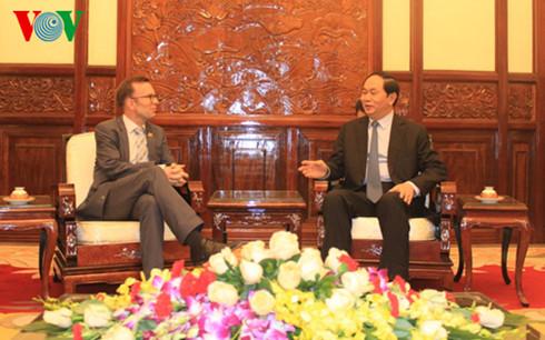 Le Président Trân Dai Quang reçoit l'Ambassadeur néo-zélandais au Vietnam