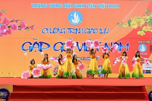 Les étudiants étrangers saluent le Têt traditionnel vietnamien