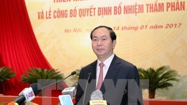Le Chef d'État assiste à la conférence sur le déploiement du travail des juridictions en 2017