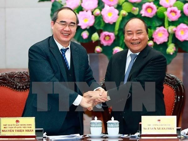 Coordination étroite entre le gouvernement et le Front de la Patrie du Vietnam