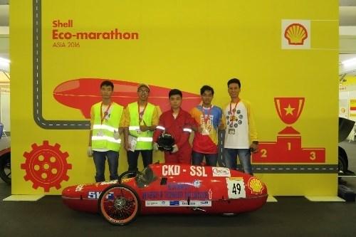 Neuf équipes d'étudiants vietnamiens au concours Shell Eco-marathon à Singapour