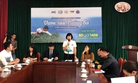 La Croix-Rouge vietnamienne lance le programme «Les jardins potagers de Truong Sa»
