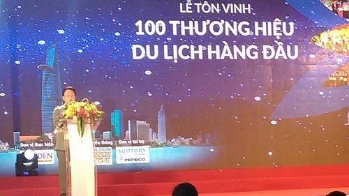 Honorer 100 meilleures marques touristiques de Hô Chi Minh-Ville