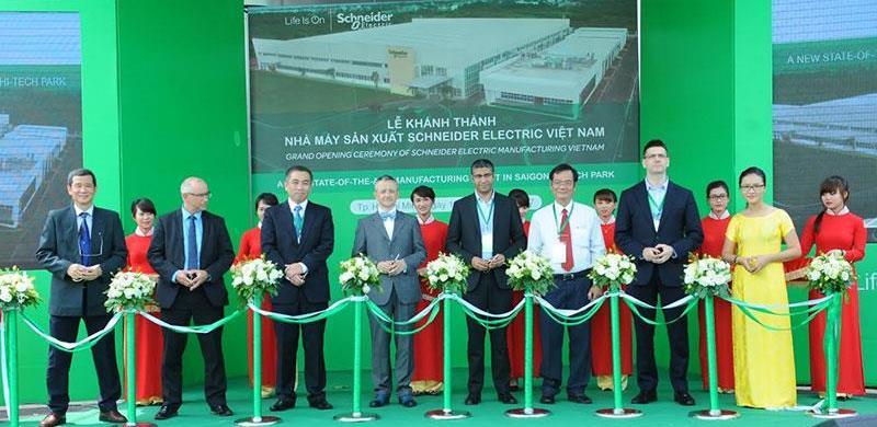 HCM-V: Schneider Electric inaugure sa nouvelle usine de 45 millions de dollars