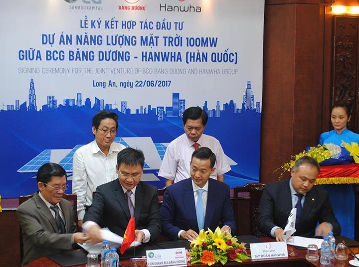 Lancement d'un projet de centrale photovoltaïque de 100 MW à Long An
