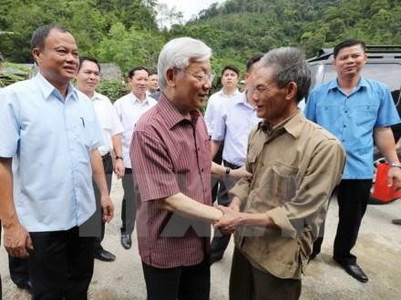 Le chef du Parti exhorte Bac Kan à investir dans les infrastructures
