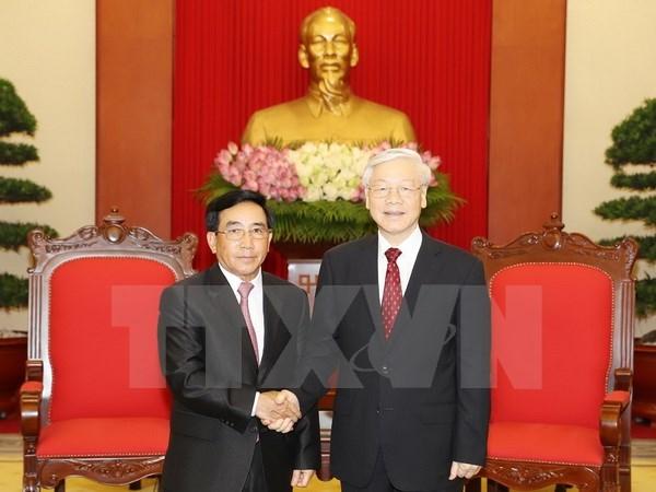 Les dirigeants vietnamiens reçoivent le vice-président laotien