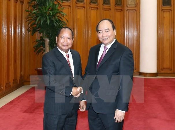 Le Premier ministre reçoit le ministre laotien de la Sécurité publique