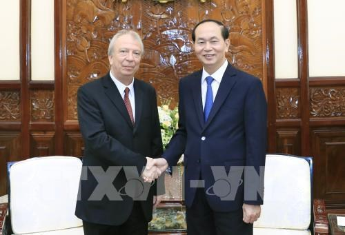 Le président Tran Dai Quang reçoit l'ambassadeur bulgare