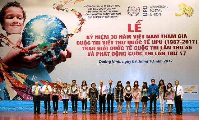 Le Vietnam célèbre la 30ème année de sa participation au concours UPU