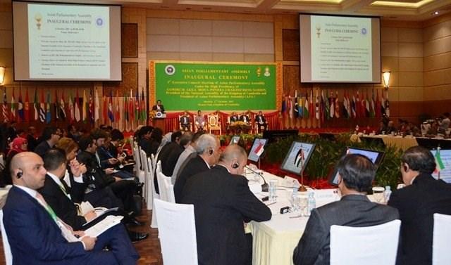 Ouverture de la Conférence du Conseil exécutif de l'Assemblée parlementaire asiatique