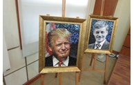 Des poteries avec les portraits des dirigeants de l