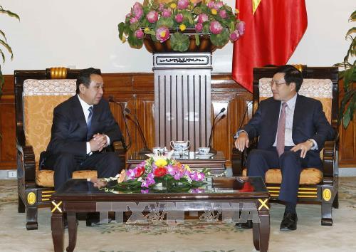 Le vice-Premier ministre Pham Binh Minh reçoit l