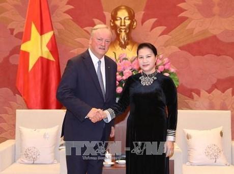 Des dirigeants vietnamiens reçoivent le président du du groupe d'audit mondial Deloitte