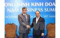 APEC 2017: le Premier ministre reçoit des hommes d'affaires étrangers